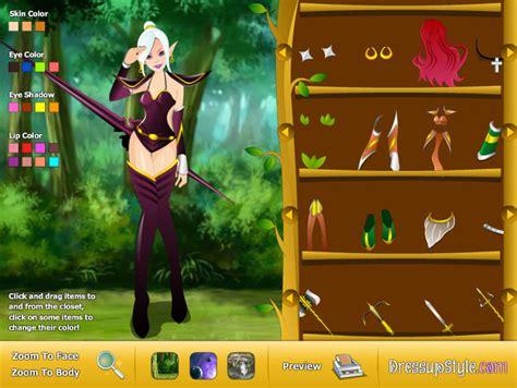 elf dress up games dressup wow elf gamebrew com