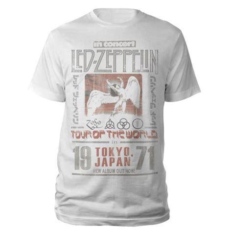 led zeppelin tokyo japan 1971 white t shirt