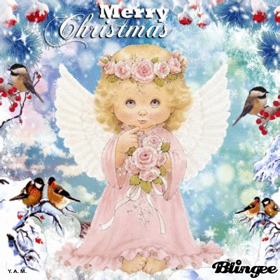 merry christmas angel animated gif pictures   images  facebook tumblr pinterest