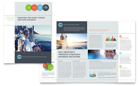 Business Analyst Brochure Template   Word & Publisher