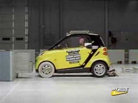 smart car collision test crash test 2008 smart car fortwo