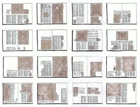layout grid sketch magazine layouts layout and magazines on pinterest