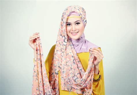 tutorial hijab pashmina motif bunga beauty with hijab tutorial hijab pashmina chiffon bunga