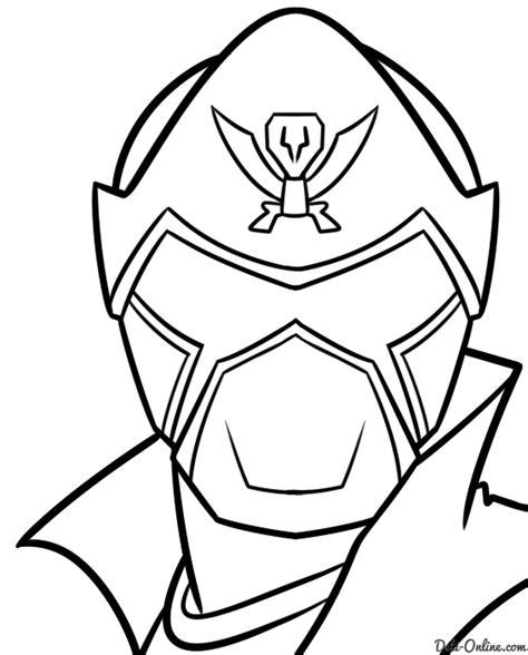 printable power ranger mask template samurai mask coloring pages