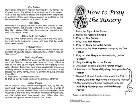 how do you pray with rosary printable rosary prayer guide prayers