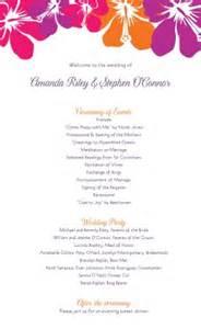 Hawaiian Menu Template by Printable Hawaiian Wedding Program Template