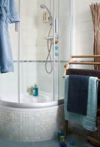 interior small corner tub shower combo wooden bathroom