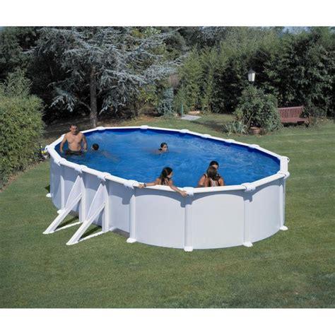 gre piscine acier ovale 500x300 cm h 120 cm blanc - Terrassenüberdachung 5 00 X 3 50