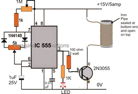 induction heater diagram small induction heater circuit for school project