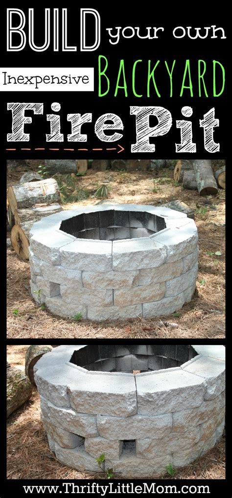 build your own backyard fire pit build your own inexpensive backyard fire pit tutorial