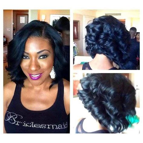layered bob sew in hairstyles for black women for older women sew in w long layers razor cut short hairstyle 2013
