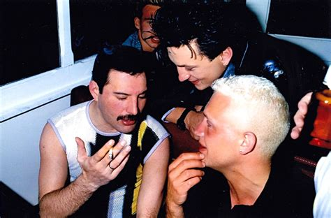 belouis some freddie mercury mark o toole and belouis some in montreux