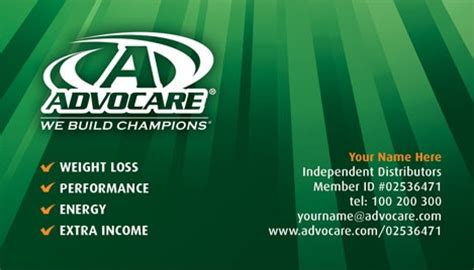 advocare business card template gallery advocare business cards