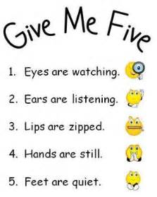 Give Me 5 The House Song Give Me Five Behavior Management Posters Give Me 5 The
