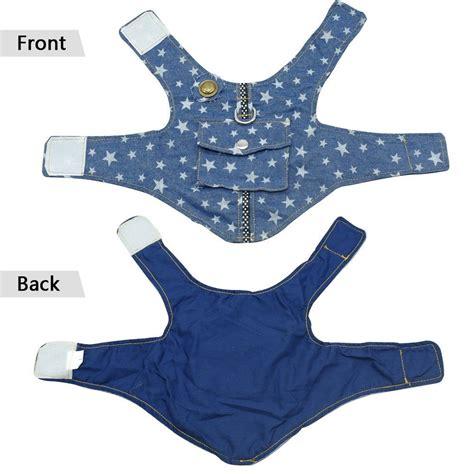 Vest Denim Biru Soft Vest Hoodie Denim beirui denim harness vest and leash set soft blue padded pet