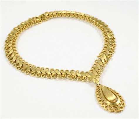 monet quot gold quot florentine necklace for sale at 1stdibs