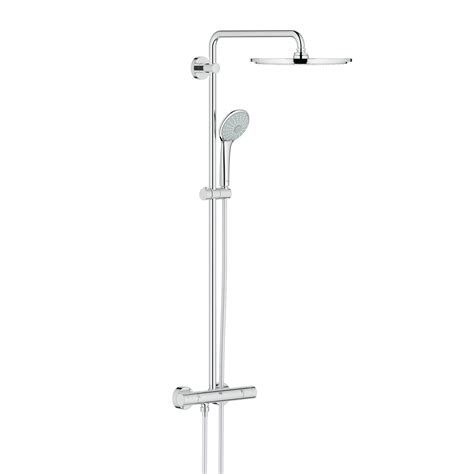 grohe euphoria grohe euphoria system 310 shower system w wall mounted thermostatic mixer 26075000