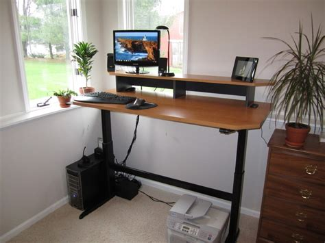 Standing Desk Craigslist by How I Made Adjustable Height Standing Desk Optimwise