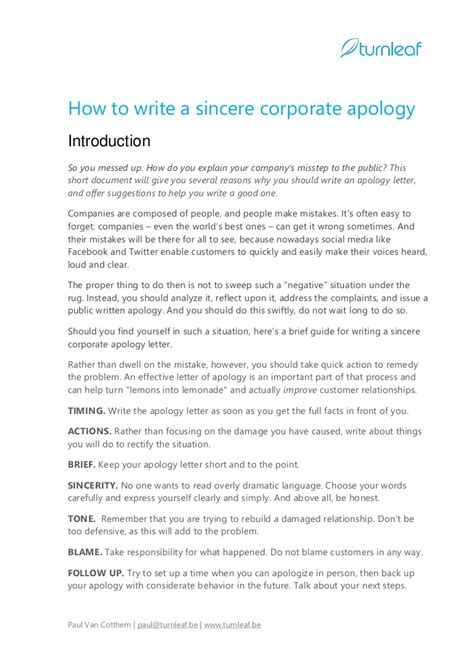 tips  writing  corporate apology letter