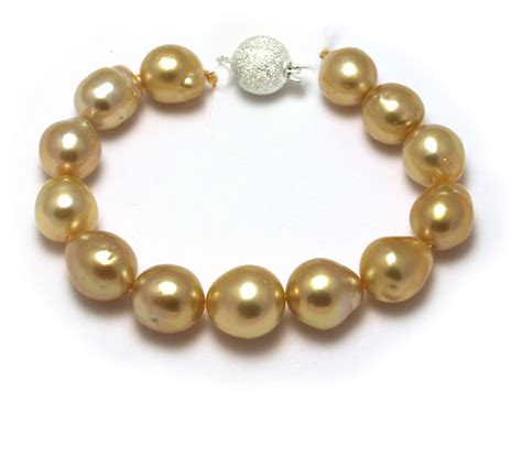 pearls with gold south sea gold pearl bracelet with golden baroque pearls