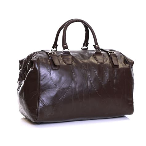 real leather travel cabin weekender luggage handbag