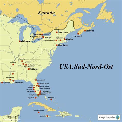 nord süd west ost usa s 252 d nord ost bernhardegger landkarte f 252 r