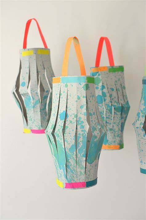 Paper Lantern Craft - diy paper lanterns watercolors paper lanterns and paper