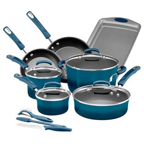 Rachael Ray Hard Enamel Nonstick 14 Piece Cookware Set Rachael Kitchen Set