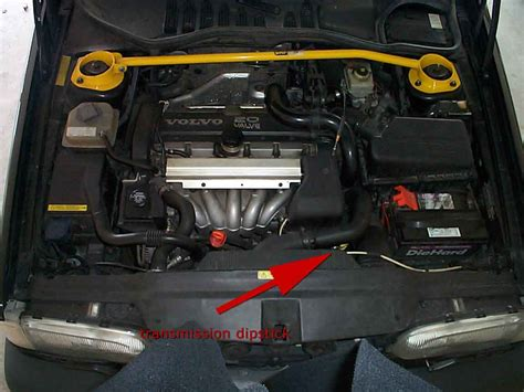 transmission  oil dipstick location volvo  cylinder
