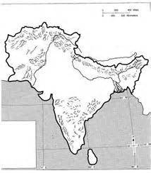Blank Outline Map Of Ancient India by Blank Map Of India With Rivers And Mountains
