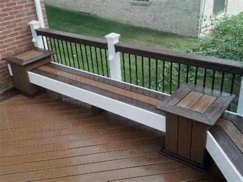 trex bench plans 25 best images about deck railing ideas on pinterest