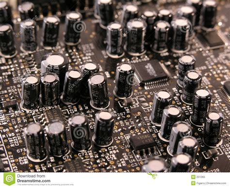 capacitors pcbs capacitors on pcb royalty free stock photo image 201065
