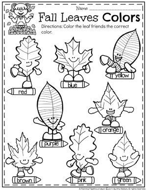 Fall Worksheets For best 25 preschool worksheets ideas on