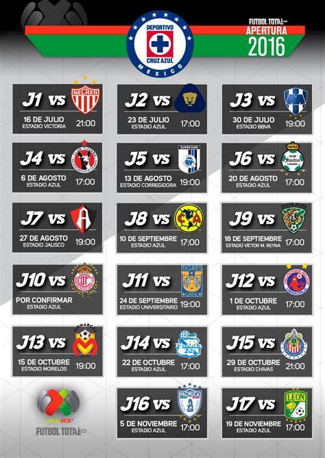 Calendario M X Calendarios Personalizados Apertura 2016 Futbol Total