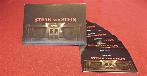 Reload Gift Cards Online - gift cards steak and stein 40 years of unique family dining