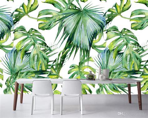 Harga Cetakan Banana Cotton kustom leaf cetakan cat air dari daun tropis pemandangan