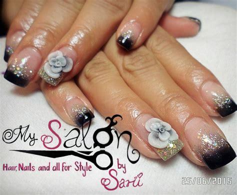 imagenes de uñas blancas con plata 52 best images about black nails on pinterest nail art