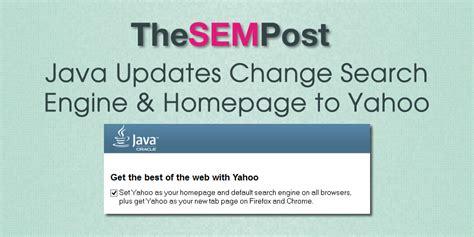 email yahoo java java updates change search engine homepage to yahoo