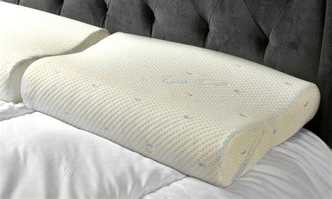 pillow deals memory foam pillow groupon