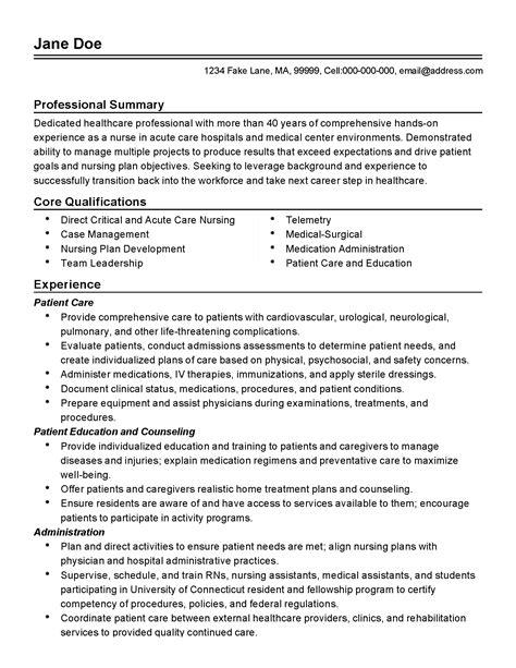 charge nurse resume registered nurses job description resume sample