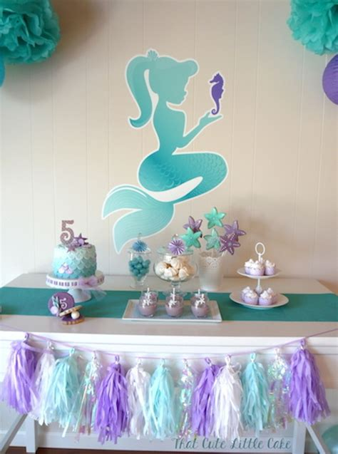 mermaid theme decorations pastel mermaid themed birthday via kara s
