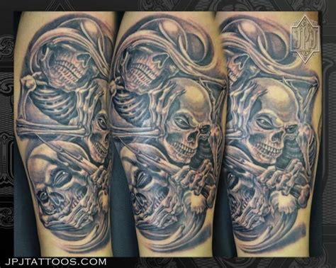 black and grey tattoos last longer see no evil hear no evil speak no evil in black and grey