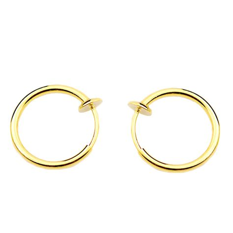 fashion clip on nose hoop ring ear lip earrings non