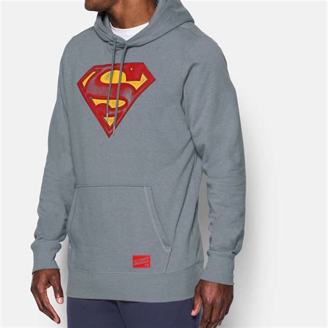 Hoodie Jaket Sweater Armour Athletics clothing armour alter ego superman hoodie fitness