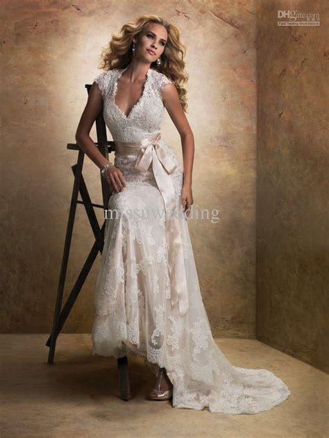 wedding dresses open back lace lace wedding dress with cap sleeves and open back vrjm