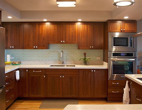 sapele kitchen from design trends construction open door