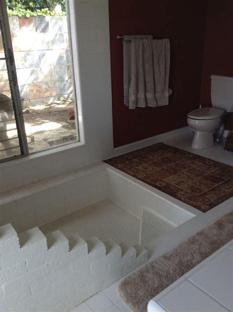 roman bathtub bathroom with roman tub
