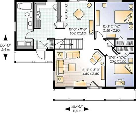farmhouse layout country ranch home plan 2 bedrms 1 baths 920 sq ft