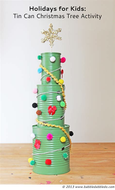 tin can christmas tree activity babble dabble do