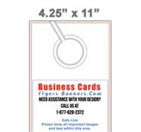 4 25 x 11 door hanger template door hanger templates semi custom pre designed